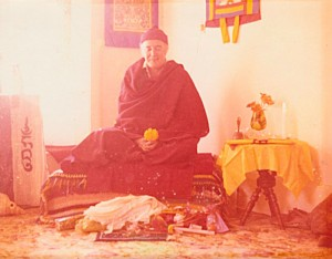Namgyal Rinpoche Photo from Alma Rae taken after  Manjusri Wong circa 1975. www.namgyal.ca archive