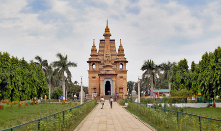 The temple at Sarnath